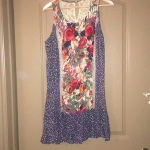 Umgee Floral Drop Waist Dress